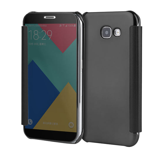 Dirt-resistant Full Cover Mirror Case For Samsung Models-Dee SuSu-Black-For A3 A320 2017-Dee SuSu