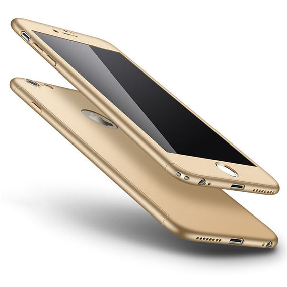 Ultra thin 360 Full Body Protective Phone Cases For iPhones-Dee SuSu-Smooth Gold-For Iphone 6 6S-Dee SuSu
