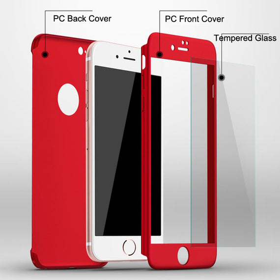 Ultra thin 360 Full Body Protective Phone Cases For iPhones-Dee SuSu-Dee SuSu