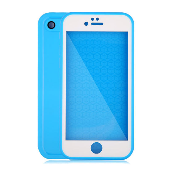 Waterproof Case For iPhone 7 6 6s Plus 5 5S SE-Dee SuSu-Blue and White-For Iphone 5 5s SE-Dee SuSu