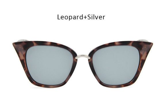 Vintage Cat Eye Inspired Sunglasses-sunglasses-Dee SuSu-leopard silver-Dee SuSu