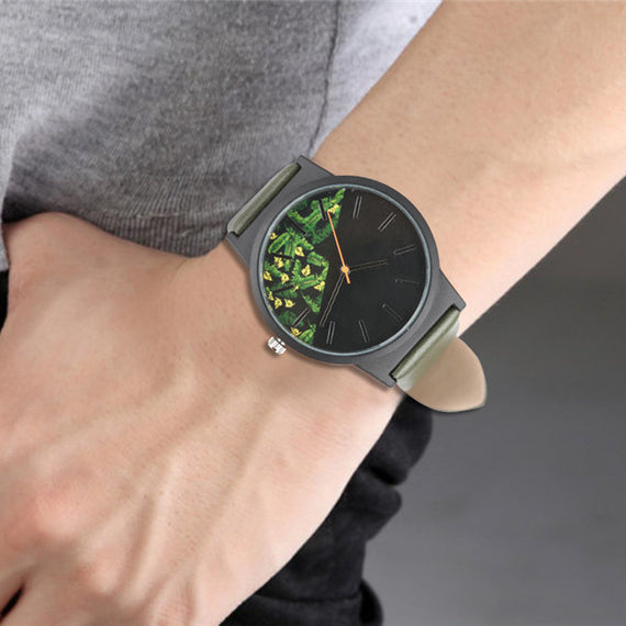 Unisex Tropical Jungle Design Quartz Wristwatch-Dee SuSu-Dee SuSu