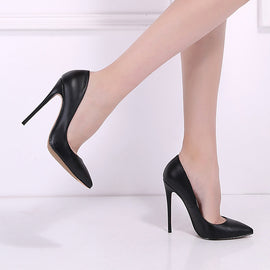 PU Leather High Heels Shoes Pumps-Dee SuSu-Dee SuSu