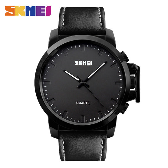 Men's Quartz Watch with Waterproof-Dee SuSu-BLACK BLACK BELT PU-Dee SuSu