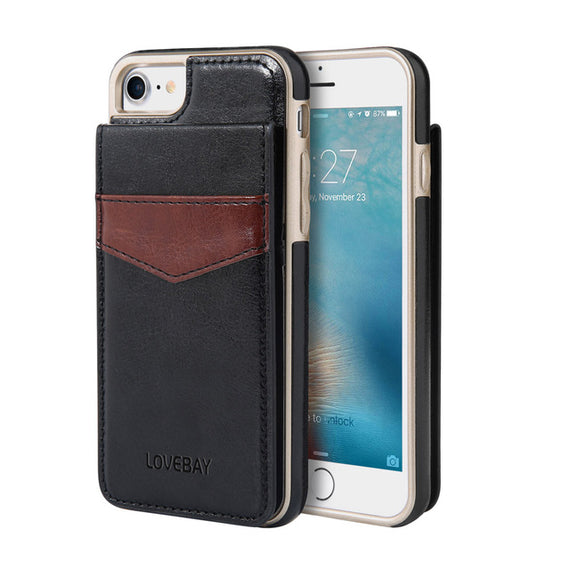 Protective back Card Holder Phone Case For iPhone-Dee SuSu-Black-China-For iPhone 6 6s-Dee SuSu
