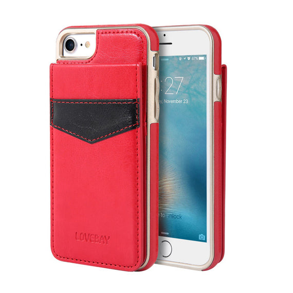 Protective back Card Holder Phone Case For iPhone-Dee SuSu-Red-China-For iPhone 6 6s-Dee SuSu