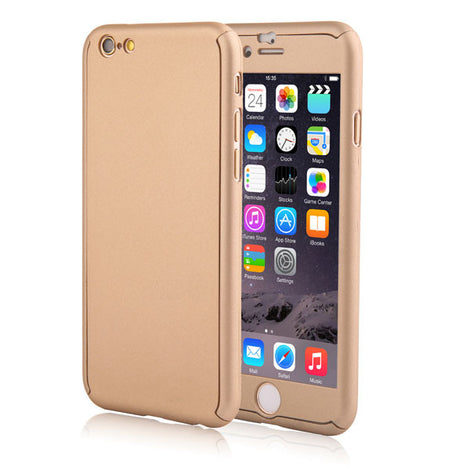 Full Body Coque Phone Cases for iPhone 5 5s SE 6 6S 7 Plus Free Clear Screen Film-Dee SuSu-Gold-For I6 Plus 6s Plus-Dee SuSu