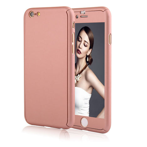 Full Body Coque Phone Cases for iPhone 5 5s SE 6 6S 7 Plus Free Clear Screen Film-Dee SuSu-Rose Gold-For I6 Plus 6s Plus-Dee SuSu