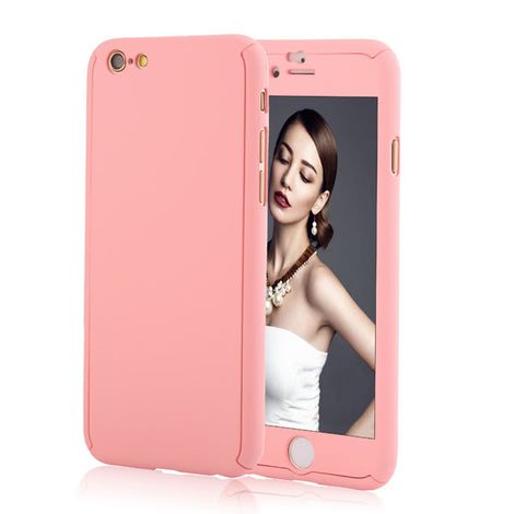 Full Body Coque Phone Cases for iPhone 5 5s SE 6 6S 7 Plus Free Clear Screen Film-Dee SuSu-Pink-For I6 Plus 6s Plus-Dee SuSu