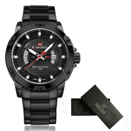 Men's Full Steel Waterproof Watches-Dee SuSu-NF9085 full black-Dee SuSu