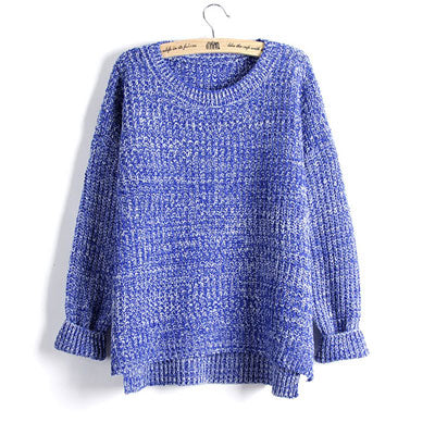 Knit Swallowtail Sweater-Dee SuSu-LMY17 BLUE-One Size-Dee SuSu