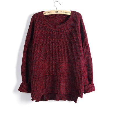 Knit Swallowtail Sweater-Dee SuSu-LMY17 RED-One Size-Dee SuSu