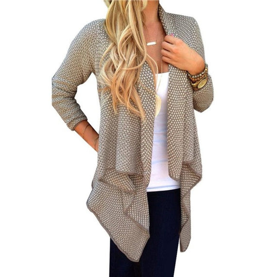 Long Sleeve Cardigan Warm Coat-Dee SuSu-Khaki-L-Dee SuSu