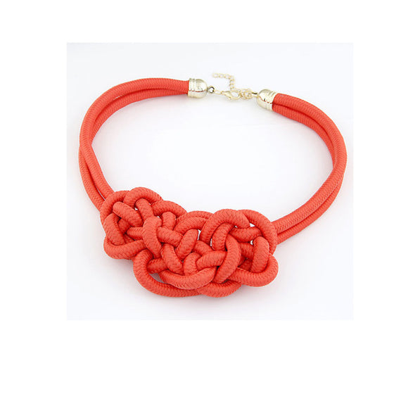 Knot Statement Necklace-Dee SuSu-Red-50cm-Dee SuSu