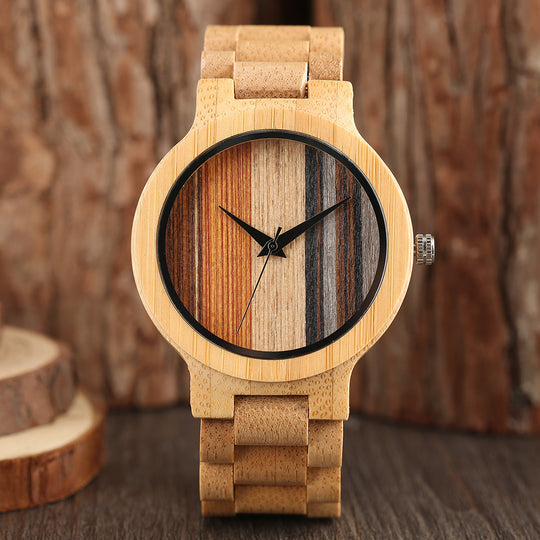 Fashion Men's Full Bamboo Wooded Wristwatch-Dee SuSu-Dee SuSu