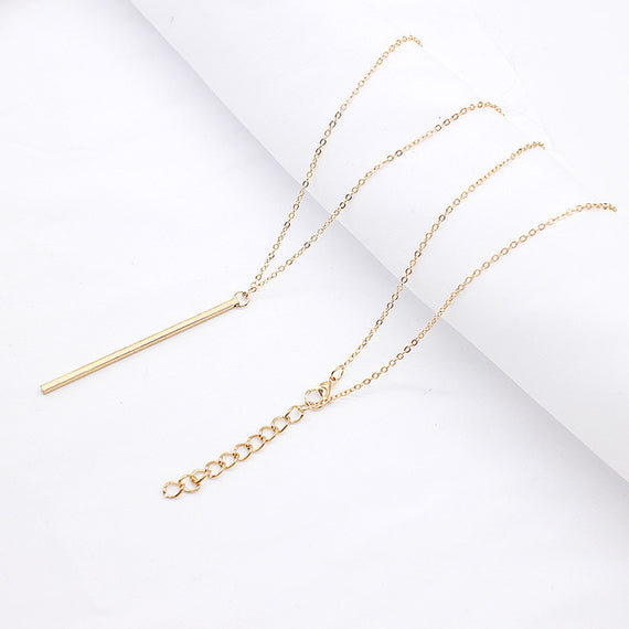 Simple Classic Bar Necklace-Dee SuSu-Gold-Dee SuSu
