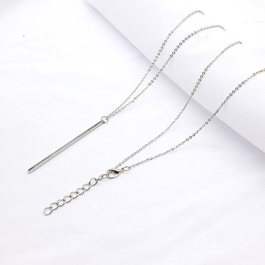 Simple Classic Bar Necklace-Dee SuSu-Silver-Dee SuSu