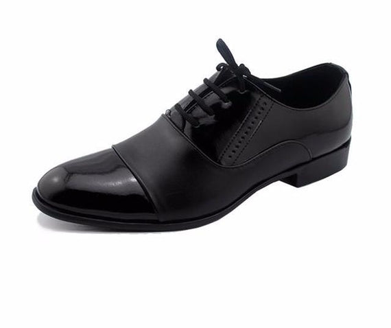 Pointed Toe Leather Dress Shoes For Men-Dee SuSu-black men shoes-6-Dee SuSu
