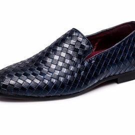 Braid Leather Loafers/Moccasins for Men-Dee SuSu-Dee SuSu