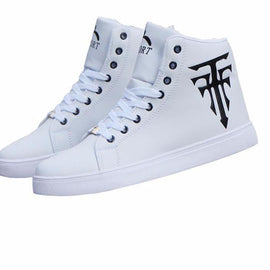 Breathable Lace -up High Top Shoes For Men-Dee SuSu-Dee SuSu