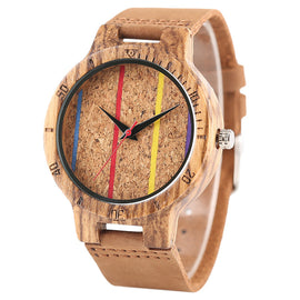 Wooden Zebra Grain Case Watch For Men and Women-Dee SuSu-Dee SuSu