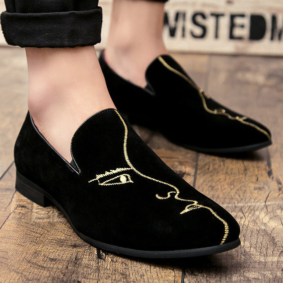 Handmade Wedding Party Embroidery Loafers-Dee SuSu-Dee SuSu