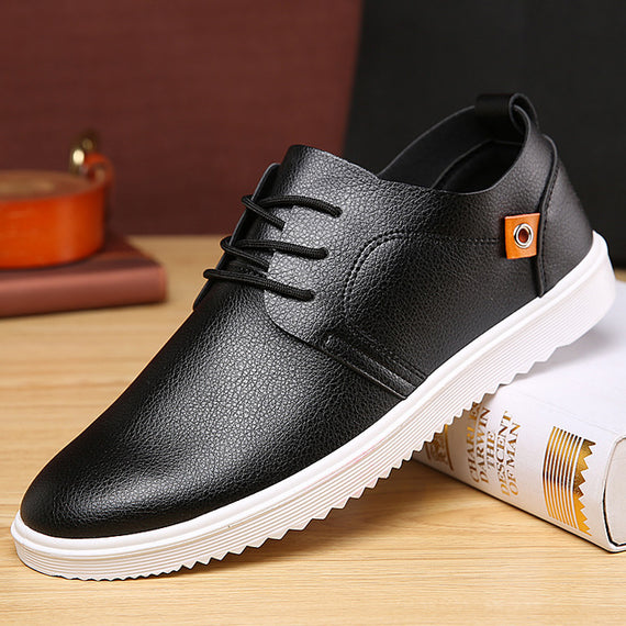 Breathable Light Weight Flat Lace Up Leisure Shoes-Dee SuSu-black-7-Dee SuSu
