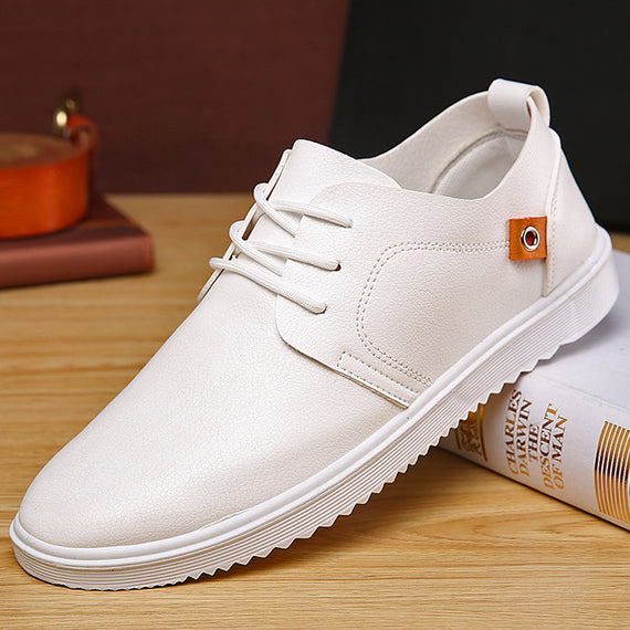 Breathable Light Weight Flat Lace Up Leisure Shoes-Dee SuSu-white-7-Dee SuSu