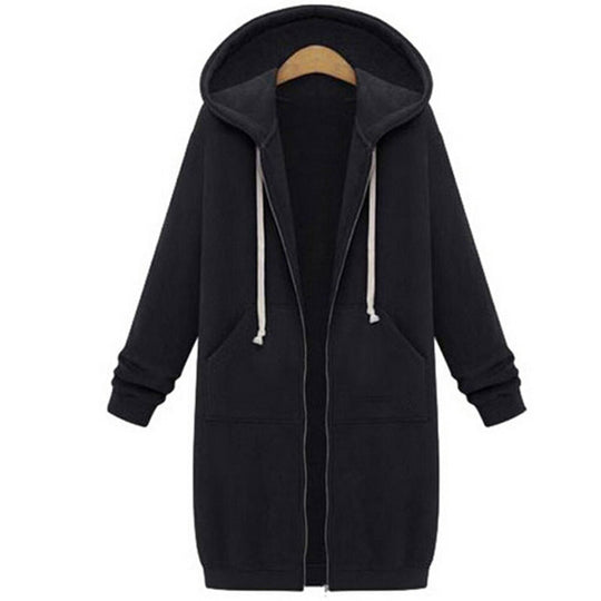 Oversized Zip Up Hoodie-Dee SuSu-Dee SuSu