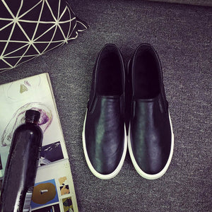 High Quality Soft Leather Slip on Loafers-Dee SuSu-Black-6.5-Dee SuSu