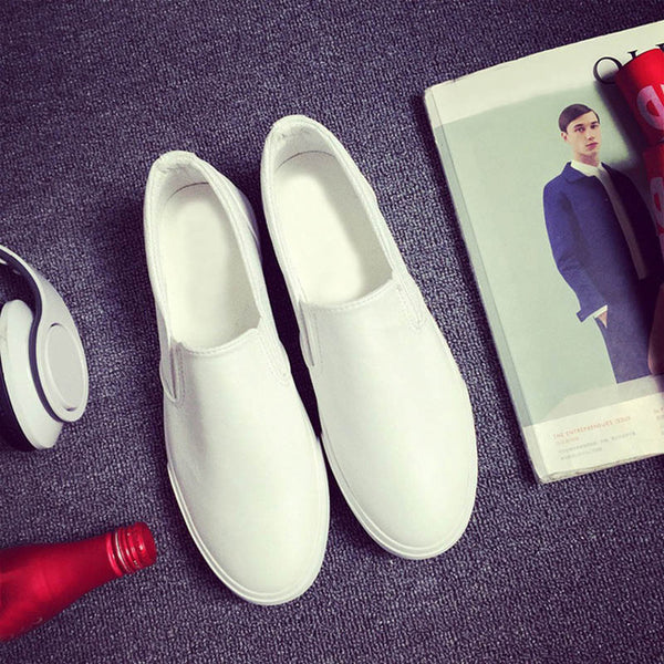 High Quality Soft Leather Slip on Loafers-Dee SuSu-White-6.5-Dee SuSu