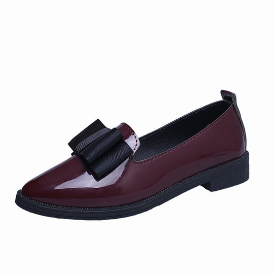 Classic Casual Pointed Toe Flat Comfortable Slip on Shoes-Dee SuSu-Wine Red-5-Dee SuSu