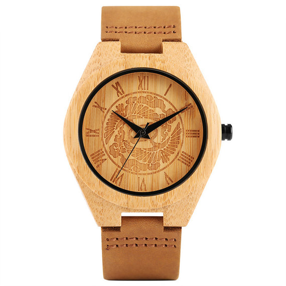 Bamboo Wooden Watch for Men With Unique Tree Dial Design-Dee SuSu-Brown-Dee SuSu