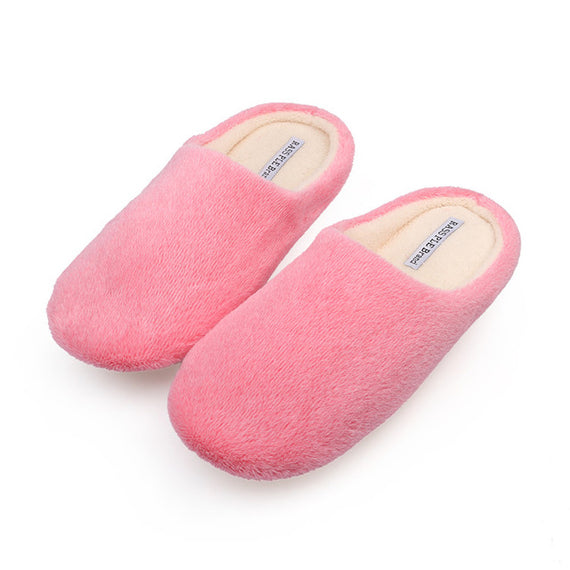 Comfortable Soft Plush Cotton Indoor Slippers-Dee SuSu-pink-6-Dee SuSu
