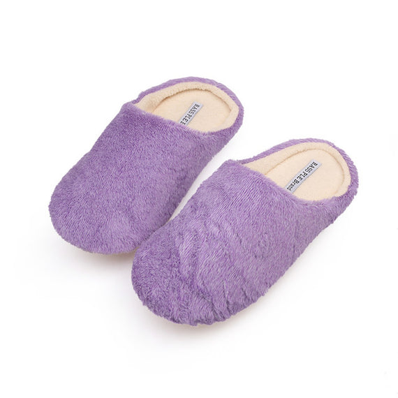 Comfortable Soft Plush Cotton Indoor Slippers-Dee SuSu-purple-6-Dee SuSu