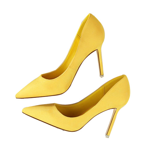 Pointed Toe High Heels-shoes-Dee SuSu-yellow-3.5-Dee SuSu