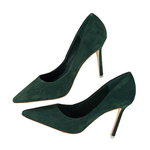 Pointed Toe High Heels-shoes-Dee SuSu-green-3.5-Dee SuSu