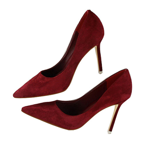 Pointed Toe High Heels-shoes-Dee SuSu-wine red-3.5-Dee SuSu