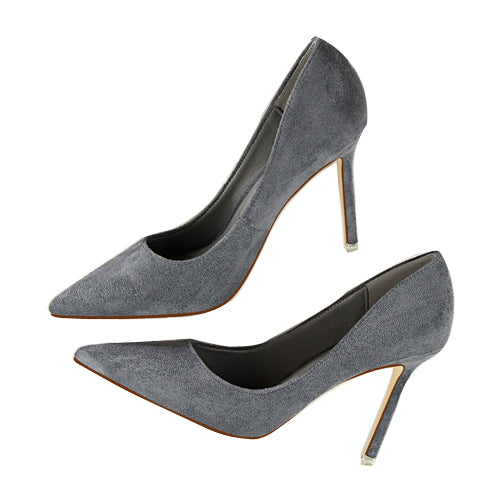 Pointed Toe High Heels-shoes-Dee SuSu-gray-3.5-Dee SuSu