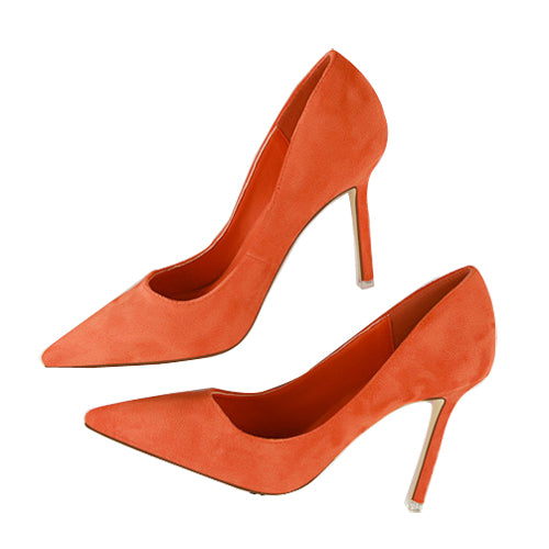 Pointed Toe High Heels-shoes-Dee SuSu-orange-3.5-Dee SuSu