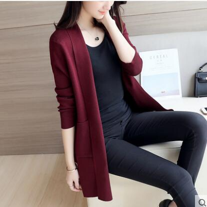 Menswear Inspired Sweater Coat-Dee SuSu-Thin Wine Red-S-Dee SuSu