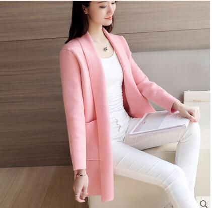 Menswear Inspired Sweater Coat-Dee SuSu-Thin Pink-S-Dee SuSu