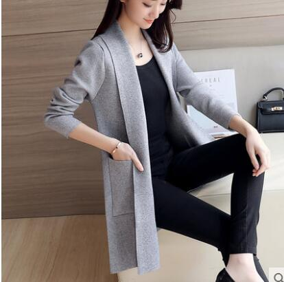 Menswear Inspired Sweater Coat-Dee SuSu-Thin Gray-S-Dee SuSu