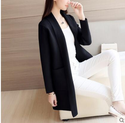 Menswear Inspired Sweater Coat-Dee SuSu-Thin Black-S-Dee SuSu