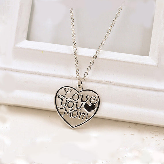 I Love You Mom Necklace-Dee SuSu-Dee SuSu