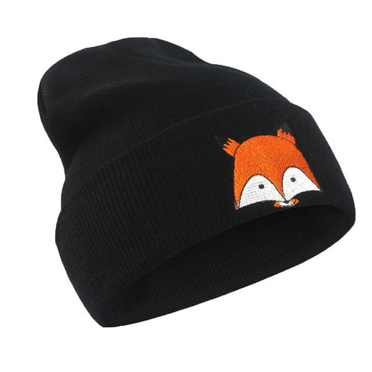 Cute Fox Beanie-Dee SuSu-Black-China-Dee SuSu