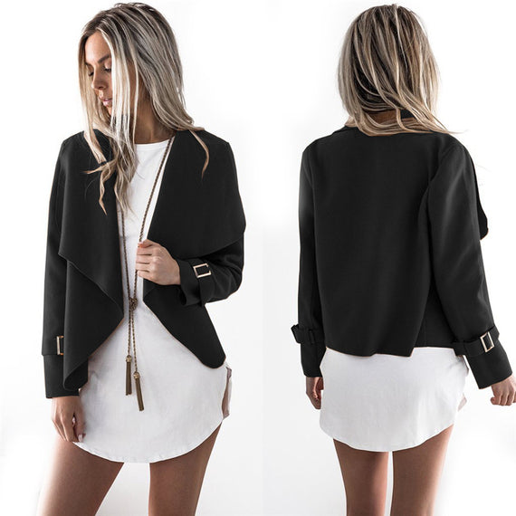Shawl Collar Jacket-Dee SuSu-Black-S-Dee SuSu