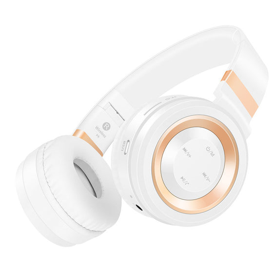 Bluetooth Wireless Headphones with TF Card FM Radio Support-Dee SuSu-White Gold-China-Dee SuSu