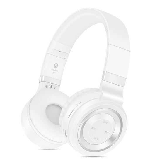 Bluetooth Wireless Headphones with TF Card FM Radio Support-Dee SuSu-White Silver-China-Dee SuSu