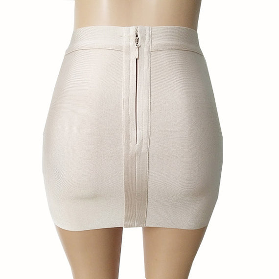 Short Elastic Rayon Mini Slim Tight Skirt-Dee SuSu-Dee SuSu